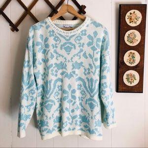 Vintage Fairy Kei Sparkly Lurex Pastel Sweater